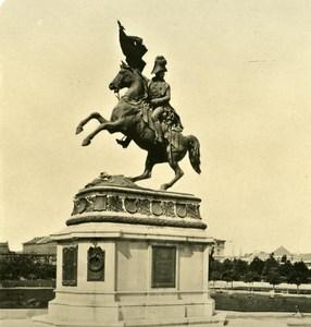 Austria Wien Statue Karl Erzherzog old NPG Stereo Photo 1900