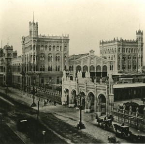 Austria Wien Railway Station old NPG Stereo Photo 1900