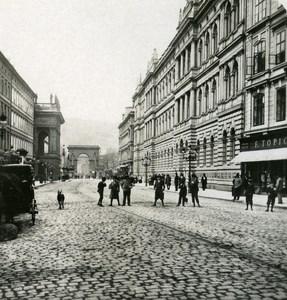 Austria-Hungary Prague Ferdinand Street old NPG Stereo Photo 1900