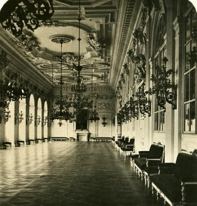 Austria-Hungary Prague Royal Palace Interior old NPG Stereo Photo 1900