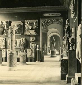 France Paris Louvre Museum Greek Sculpture old NPG Stereo Photo 1900