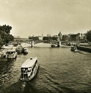France Paris Snapshot Seine River old NPG Stereo Photo 1900