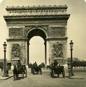 France Paris Snapshot Arc de Triomphe old NPG Stereo Photo 1900