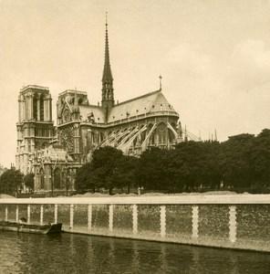 France Paris Snapshot Notre Dame old NPG Stereo Photo 1900