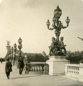 France Paris Instantaneous Alexandre III Bridge old NPG Stereo Photo 1900