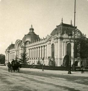 France Paris Instantaneous Petit Palais old NPG Stereo Photo 1900