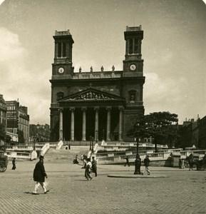France Paris Instantaneous Vincent de Paul Church old NPG Stereo Photo 1900