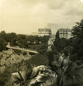 France Paris Snapshot Buttes Chaumont old NPG Stereo Photo 1900