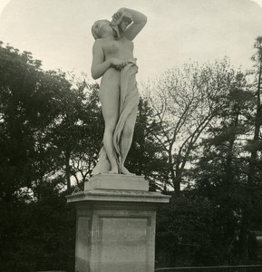 France Paris Snapshot Tuileries Garden old NPG Stereo Photo 1900