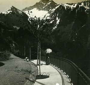 Switzerland Alps Naye Rocks Panorama old Possemiers Stereo Photo 1910