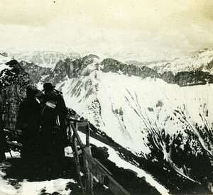 Switzerland Alps Rochers de Naye Spring old Possemiers Stereo Photo 1910