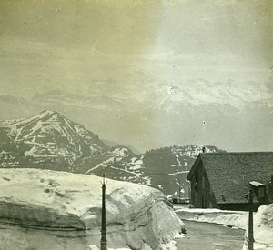 Switzerland Alps Rigi Summit Spring old Possemiers Stereo Photo 1910