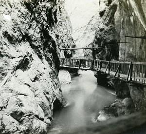 Switzerland Alps Vernayaz Trient Gorge old Possemiers Stereo Photo 1910