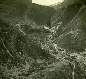 Switzerland Alps Quary along the Gotthard Bahn Possemiers Stereo Photo 1910