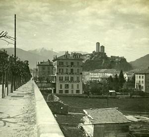 Switzerland Alps Bellinzona old Possemiers Stereo Photo 1910