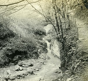 Switzerland Alps Montreux Chauderon Gorge old Possemiers Stereo Photo 1910