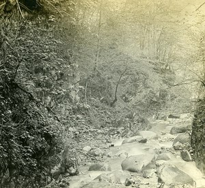 Switzerland Alps Montreux Chauderon Gorge old Possemiers Stereo Photo 1910