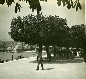 Switzerland Alps Lucerne old Possemiers Stereo Photo 1910