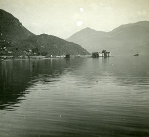 Italy Alpes Lake Majeur Castelli di Cannero old Possemiers Stereo Photo 1910