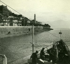 Italy Alps Lake Maggiore Ghiffa old Possemiers Stereo Photo 1910