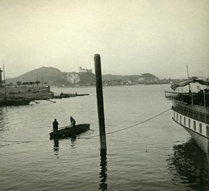 Italy Alps Lake Maggiore Angera old Possemiers Stereo Photo 1910
