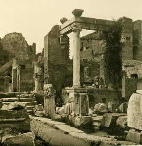 Italy Roma Forum Roman Aedicula old NPG Stereo Photo 1900