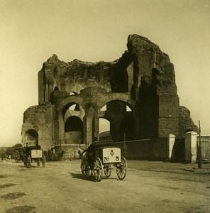 Italy Roma Temple of Minerva old NPG Stereo Photo 1900