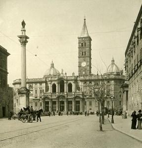 Italy Roma Basilica di Santa Maria Maggiore old NPG Stereo Photo 1900