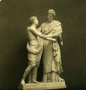 Italy Roma National Museum of Rome Sculpture old NPG Stereo Photo 1900
