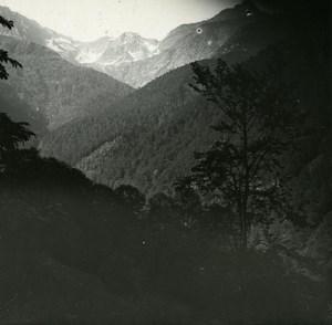 France Pyrenees Luchon Val de la Glere old Possemiers Stereo Photo 1920