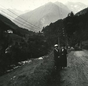 France Pyrenees Luchon Vallée de la Pique old Possemiers Stereo Photo 1920