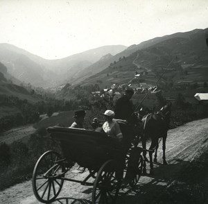France Pyrenees Luchon Mayregues old Possemiers Stereo Photo 1920