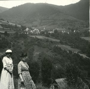 France Pyrenees Luchon Saccourvielle old Possemiers Stereo Photo 1920