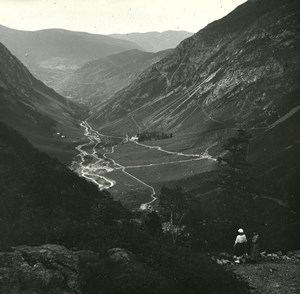 France Pyrenees Luchon Astau valley old Possemiers Stereo Photo 1920