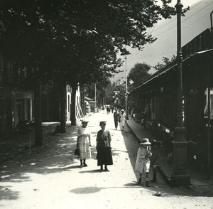 France Pyrenees Luchon Street Sylvie old Possemiers Stereo Photo 1920