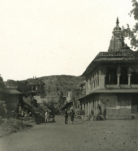 India Rajasthan Amber street in dead city Old Stereo Photo Kurt Boeck 1900
