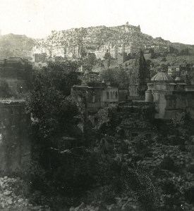 India Rajasthan Amber panorama Old Stereo Photo Kurt Boeck 1900