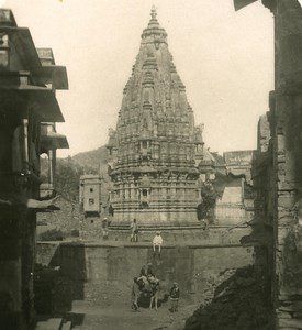 India Rajasthan Amber Temple Old Stereo Photo Kurt Boeck 1900