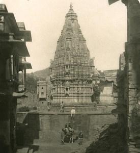 India Rajasthan Amber Temple Old Stereo Photo Kurt Boeck 1900