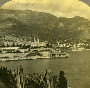 France Monte Carlo Gambling Resort old Rick Stereo Photo ca 1900