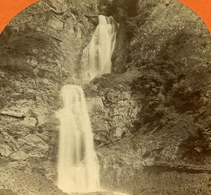 Switzerland Alpsaon Falls old Jullien Stereo Photo 1885