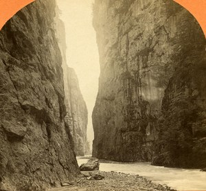 Switzerland Aar Gorge old Jullien Stereo Photo 1885