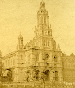 France Second Empire Paris Church of Trinity Old Stereo Photo 1868