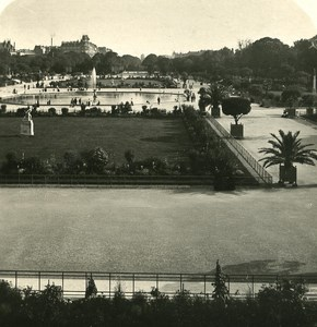 France Paris Gardens of Luxembourg Old NPG Stereo Photo 1900