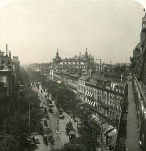 France Paris Boulevard des Italiens Old NPG Stereo Photo 1900