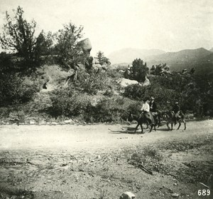 USA Colorado Garden of Gods Tourists Old NPG Stereo Photo 1900