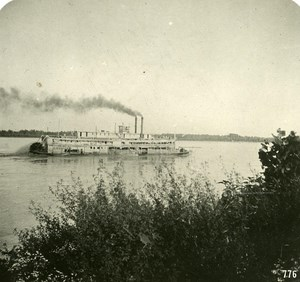 USA Mississipi Transport Steamer Old NPG Stereo Photo 1900