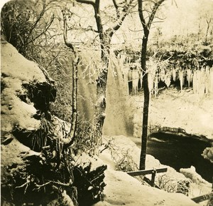 USA Minesota Minnehaha falls Winter Old NPG Stereo Photo 1900