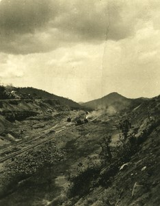 USA Panama Digging of the canal Old NPG Stereo Photo 1900