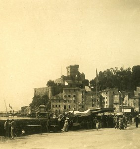 Italy Liguria Riviera Lerici San Terenzo Castle Old NPG Stereo Photo 1900
